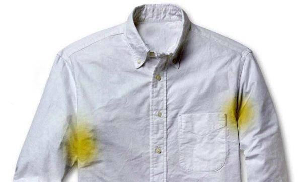 از بین بردن لکه های عرق از لباس