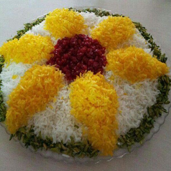 تزیین برنج افطاری