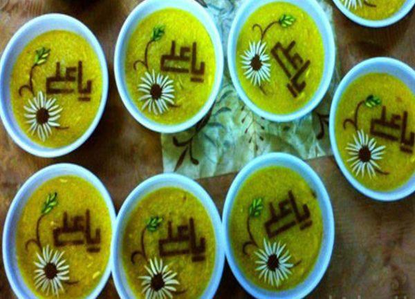 تزیین شله زرد افطاری