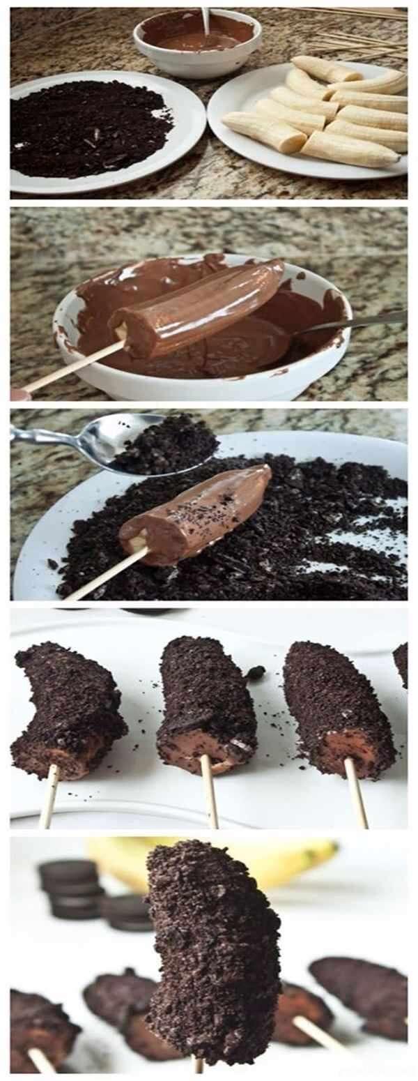 تزیین میوه شکلاتی