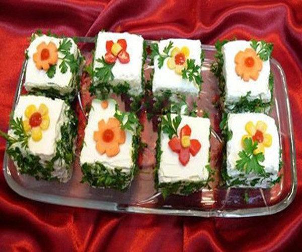 تزیین پنیر برای افطار