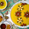 ۱۰ ایده تزیین شله زرد و حلوا برای سفره افطار مجلسی+تصاویر