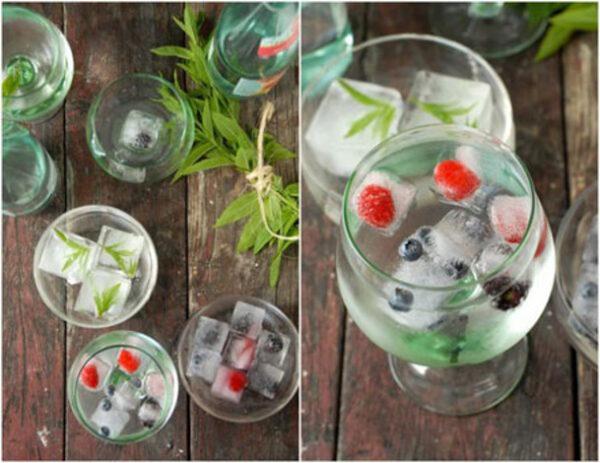 تزیین یخ با میوه