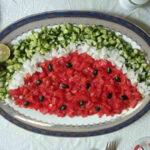 ایده های بسیار زیبا برای تزیین سالاد شیرازی
