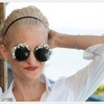 ایده هایی برای تزیین عینک آفتابی با سنگ و مروارید