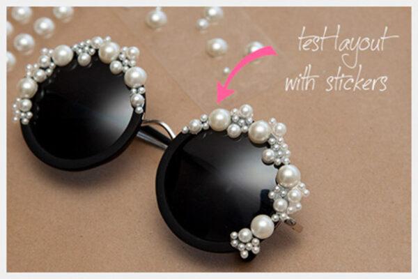 تزیین عینک آفتابی
