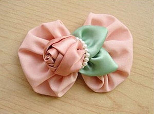 نحوه ساخت گل سر روبانی