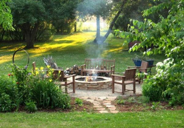 نحوه ساخت آتشدان در حیاط