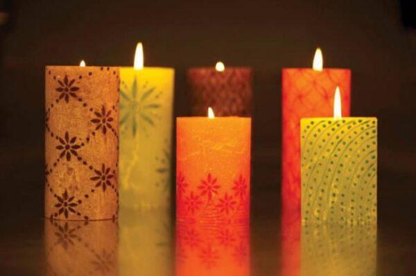 مدل های ساده و زیبای تزیین شمع