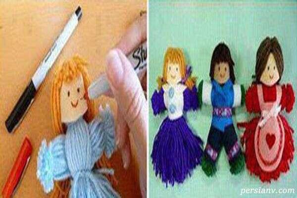 آموزش درست کردن عروسک کاموایی بدون بافتن +تصاویر
