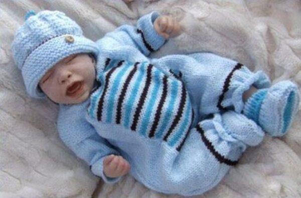 آموزش بافت لباس سرهمی نوزاد در خانه
