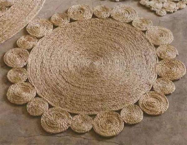 نحوه درست کردن فرش با نخ های کنفی