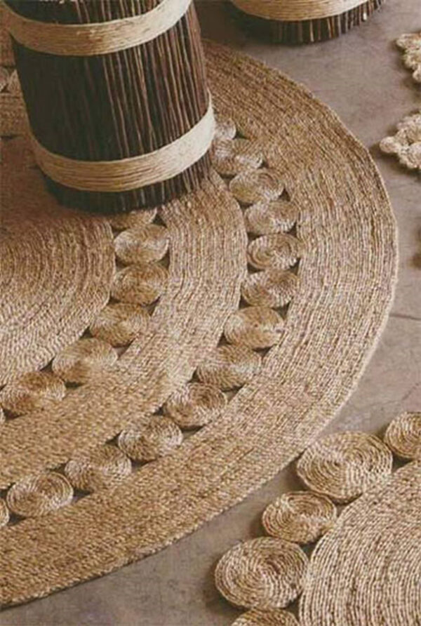 فرش با نخ های کنفی