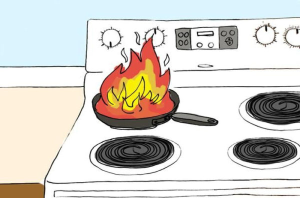آتش سوزی لوازم خانگی