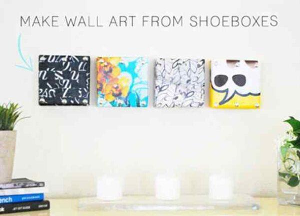 تابلو دیواری با جعبه کفش