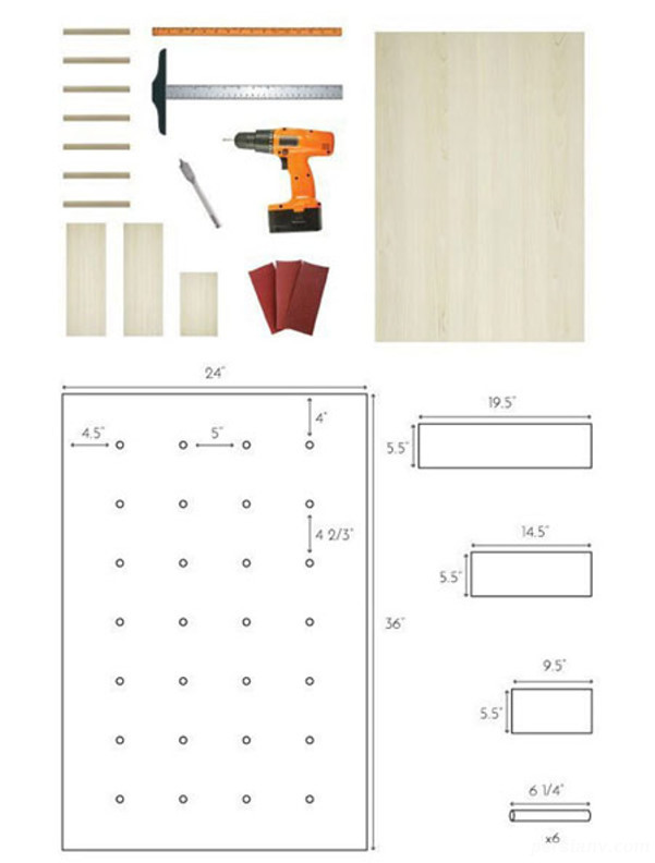 ساخت طاقچه چوبی