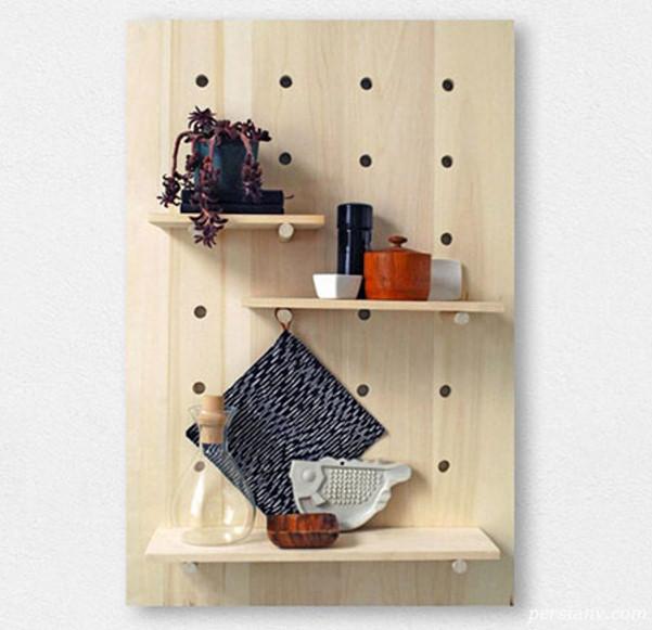 طرز ساخت طاقچه چوبی کاربردی +تصاویر