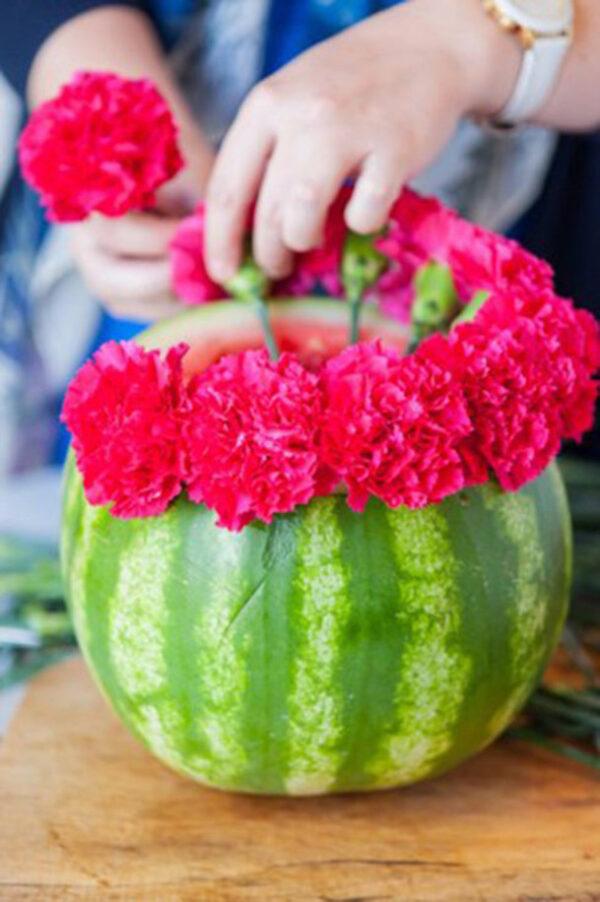گلدان هندوانه ای