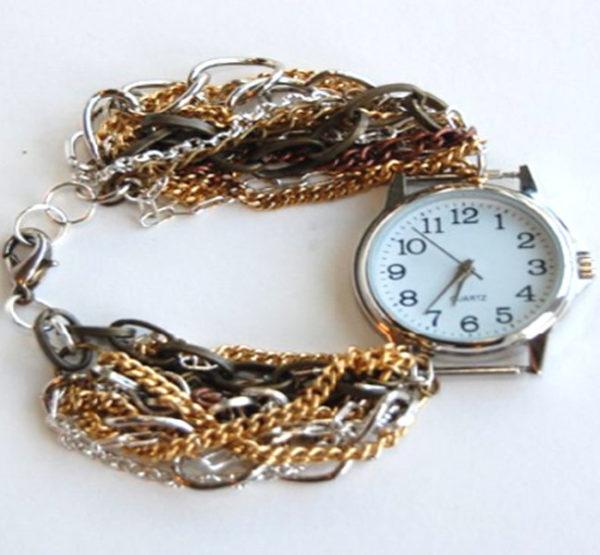 آموزش مرحله ای تزیین ساعت با زنجیر