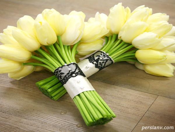 دسته گل عروس | جدیدترین مدل های دسته گل عروس