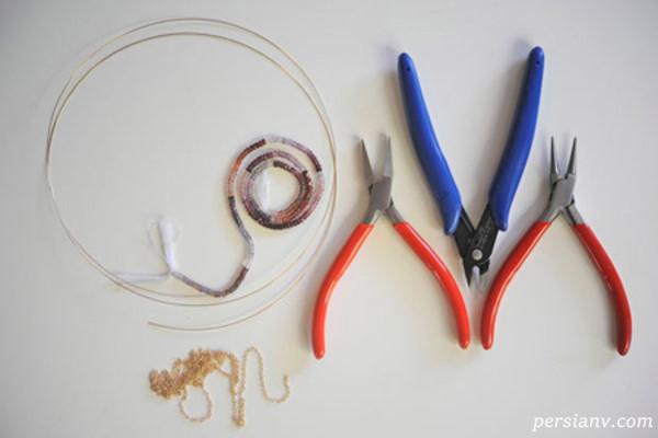 ساخت گردنبند کریستالی