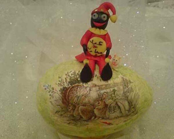 عروسک حاجی فیروز با خمیر چینی