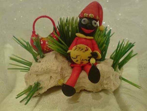 ساخت عروسک حاجی فیروز با خمیر چینی
