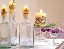 تزیین شمع با برگهای پاییزی