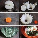 آموزش تزیین پیاز به شکل گل نیلوفر+تصاویر