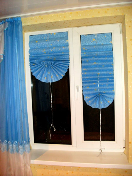 Временные шторы на окна своими руками 67