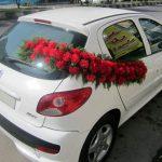 تزیین ماشین عروس با گل+تصاویر