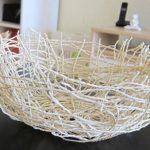 طرز ساخت کاسه تزیینی با نخ کنفی+تصاویر