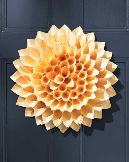 آموزش درست کردن درکوب شیک پاییزی به شکل گل +تصاویر