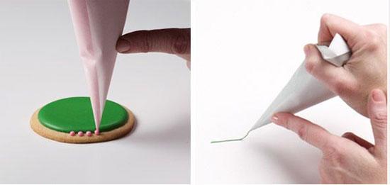 قیف کاغذی بسازید وشیرینی های خورا تزیین کنید+تصاویر