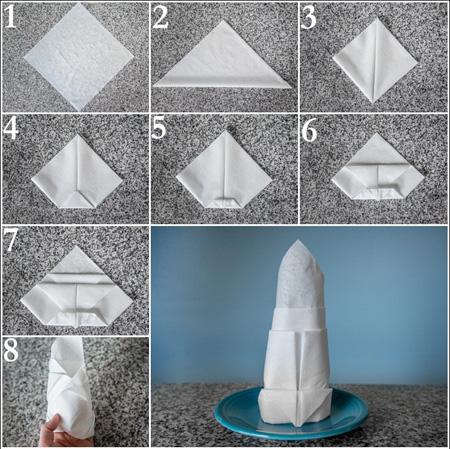 آموزش مراحل تزیین دستمال سفره+تصاویر