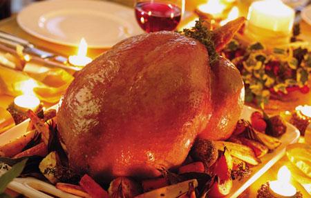 تزئین مرغ شکم پر