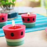 آموزش ساخت شمع هندوانه ای ویژه شب یلدا+تصاویر
