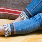 آموزش تزئین لبه شلوار جین با استفاده ازمنگوله+تصاویر