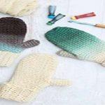 آموزش رنگ آمیزی دستکش بافتنی +تصاویر