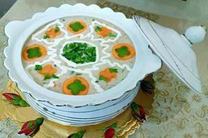 مدل های زیبا برای تزئین سوپ جو با شیر+تصاویر