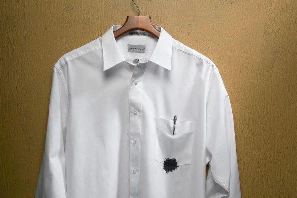 پاک کردن لکه جوهر از روی لباس
