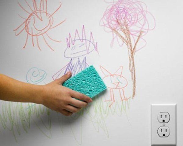 پاک کردن لکه مداد از دیوار
