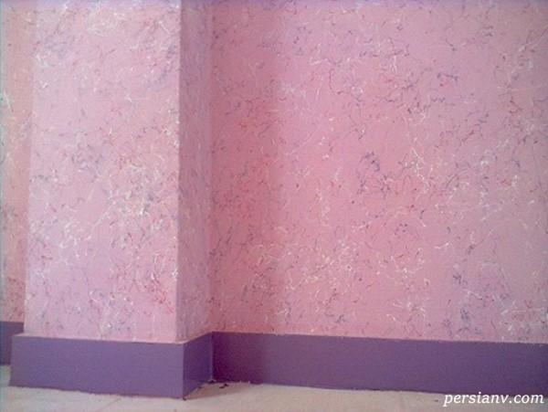 رنگ کردن دیوار با اکرلیک