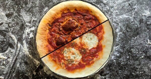 پنیر پیتزای چسبیده به ظرف