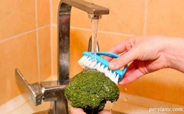 شستن درست سبزیجات