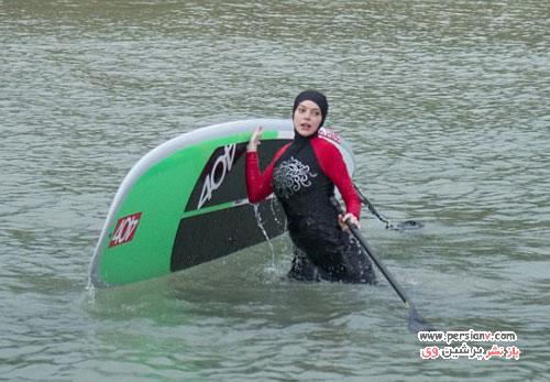 لیندزی لوهان با لباس شنای بسیار متفاوت در تایلند +عکس