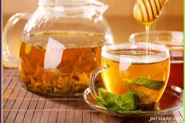 خاصیت شگفت انگیز چای سبز با عسل