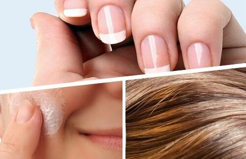 مواد غذایی مفید پوست مو و ناخن