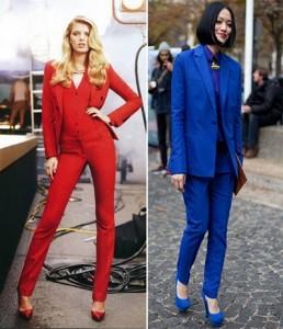 لباس آبی و قرمز