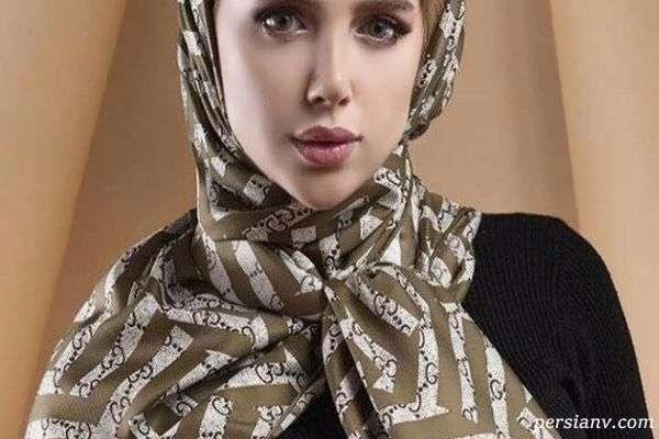 روسری با فرم صورت